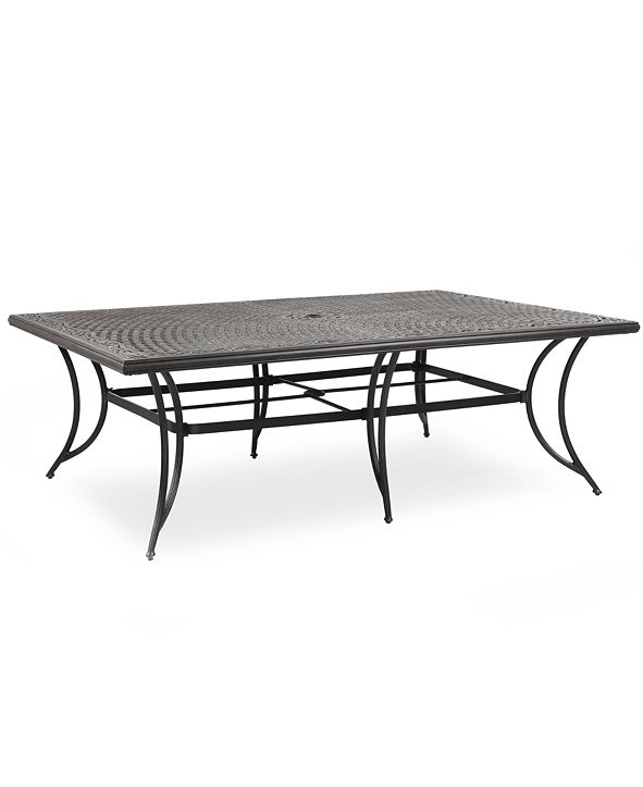 "Furniture Cast Aluminum 84"" x 60"" Outdoor Dining Table, Created for Macy's"