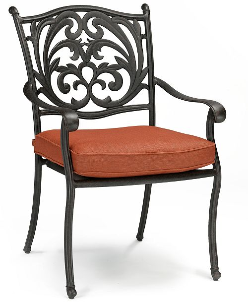 Groovy Chateau Cast Aluminum Outdoor Dining Chair Created For Macys Beutiful Home Inspiration Aditmahrainfo