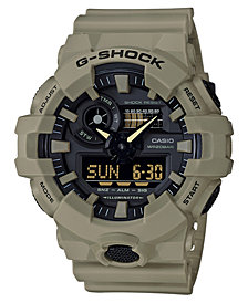 G-Shock Men's Analog-Digital Beige Resin Strap Watch 53mm