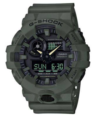 Men's Analog-Digital Green Resin Strap Watch 53mm