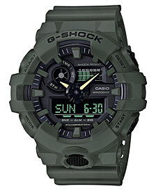 G-Shock Men's Analog-Digital Green Resin Strap Watch 53mm