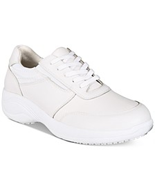 Easy Works By Women's Middy Lace-Up Slip Resistant Sneakers