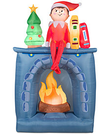National Tree Company Airblown® 6.5' Inflatable Scout Elf On Fireplace Shelf