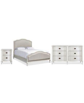Carter Upholstered Bedroom Furniture Collection, 3-Pc. Set (Upholstered Queen Bed, Dresser & Nightstand)