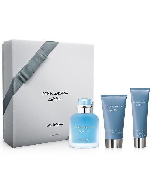 f3de57f4 Dolce & Gabbana DOLCE&GABBANA Men's 3-Pc. Light Blue Eau Intense Pour Homme  Gift