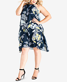 Standards and Practices Plus Size Channing Halter Shift Dress