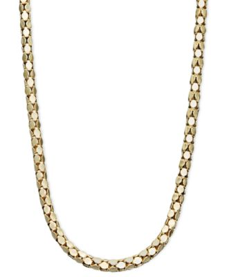 "14k Gold Necklace, 16"" Diamond Cut Popcorn Chain (1-5/8mm)"