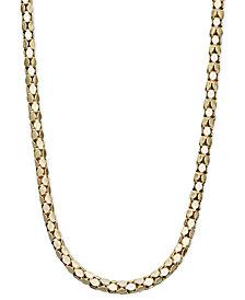 "14k Gold Necklace, 16"" Diamond Cut Popcorn Chain"