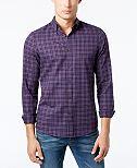 Michael Kors Men's Slim-Fit Check Print Flannel
