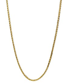 "14k Gold Necklace, 18"" Diamond Cut Wheat Chain (9/10mm)"