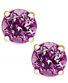 Amethyst Stud Earrings in 14k Gold (1 ct. t.w.)