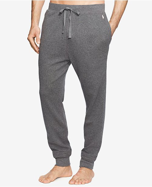 Polo Ralph Lauren Men s Waffle-Knit Thermal Jogger Pajama Pants ... b1008efbe