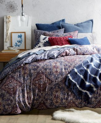 lucky brand brooke navy reversible comforter sets created for macyu0027s
