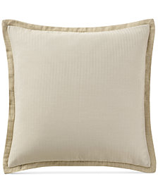 Waterford Charlize Reversible Herringbone-Stripe Gold European Sham