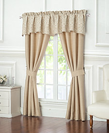 "Waterford Charlize Gold 55"" x 18"" Scalloped Window Valance"