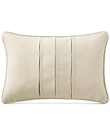 "Waterford Charlize Pleated Gray 12"" x 18"" Decorative Pillow"
