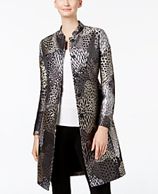 Anne Klein Metallic Jacquard Topper Jacket