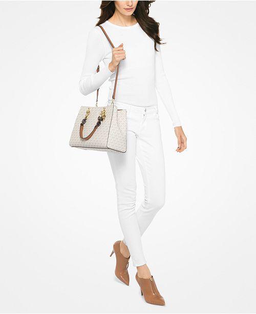 640797513263 Michael Kors Signature Cynthia Medium Satchel   Reviews - Handbags ...