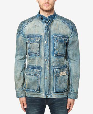 Buffalo David Bitton Men's Jistanzi Vintage Denim Jacket - Coats ...