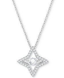 Swarovski Silver-Tone Crystal Star Pendant Necklace
