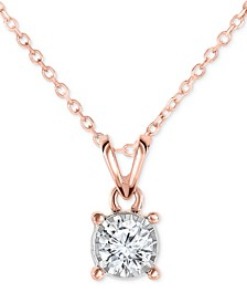"Diamond Pendant 18"" Necklace (1/2 ct. t.w.) in 14k Gold, Rose Gold or White Gold"
