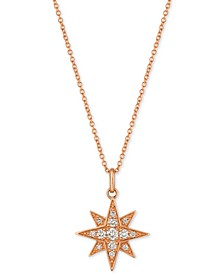 Strawberry & Nude™ Diamond Star Pendant Necklace (1/4 ct. t.w.) in 14k Gold or Rose Gold