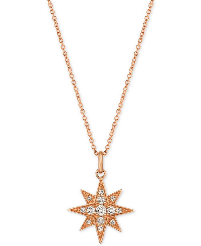 Le Vian - Diamond Star Pendant Necklace (1/4 ct. t.w.) in 14k Gold or Rose Gold