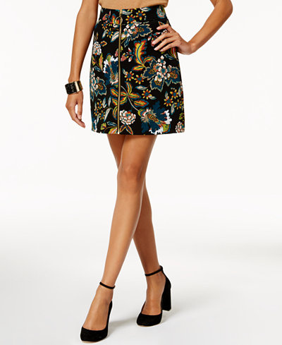Anna Sui Loves INC International Concepts Printed Ottoman-Knit Mini Skirt, Created for Macy's