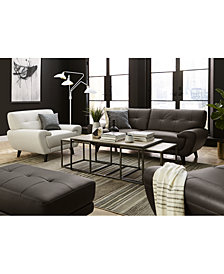Lanz Leather Furniture Collection, Created For Macy's