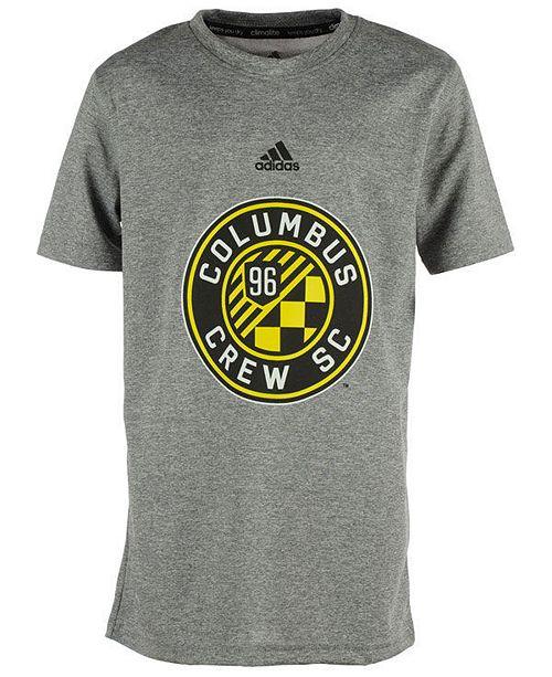 ca19b50cfed6 adidas Columbus Crew SC Primary Logo Climalite T-Shirt, Big Boys (8 ...