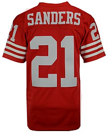 Mitchell & Ness Men's Deion Sanders San Francisco 49ers Replica Throwback Jersey