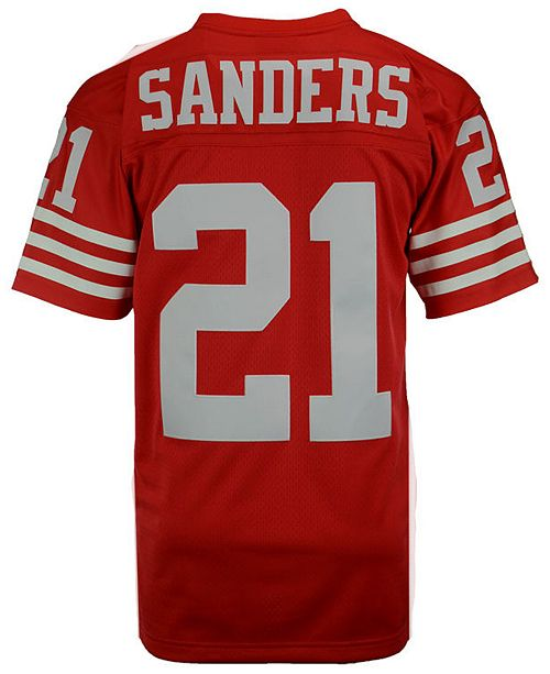 low priced f46d4 86f20 Men's Deion Sanders San Francisco 49ers Replica Throwback Jersey