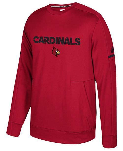 adidas Men's Louisville Cardinals Sideline Player Crew Sweatshirt