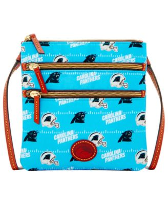 Carolina Panthers Nylon Triple Zip Crossbody