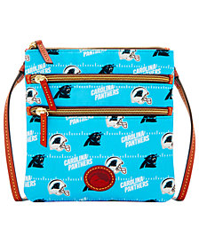 Dooney & Bourke Carolina Panthers Nylon Triple Zip Crossbody