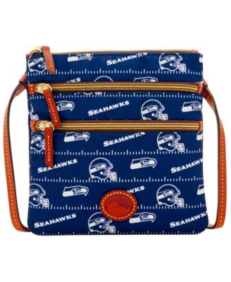 Seattle Seahawks Nylon Triple Zip Crossbody