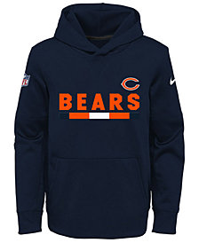 Nike Chicago Bears Pullover Therma Hoodie, Big Boys (8-20)