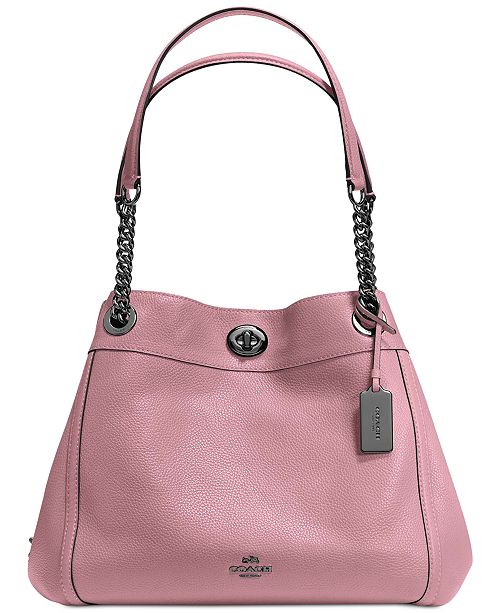 d1fe735e5594 COACH Turnlock Edie Shoulder Bag in Pebble Leather - Handbags ...