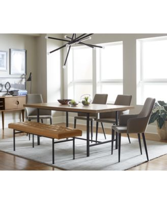 Selena Dining Furniture, 6-Pc. Set (Dining Table, 4 Side Chairs ...