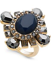 I.N.C. Gold-Tone Stone Statement Ring, Created for Macy's