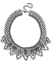 I.N.C. Hematite-Tone Stone and Pavé Statement Necklace, Created for Macy's