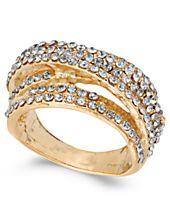I.N.C. Gold-Tone Pavé Swirl Multi-Row Ring, Created for Macy's