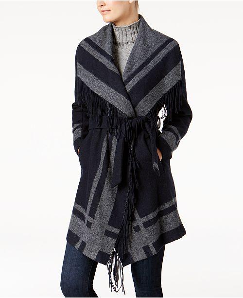 4bbac03f1ad6b Vince Camuto Belted Wrap Coat   Reviews - Coats - Women - Macy s