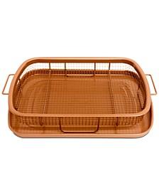 Non-Stick Ti-Ceramic Heat Circulating Crisper Tray
