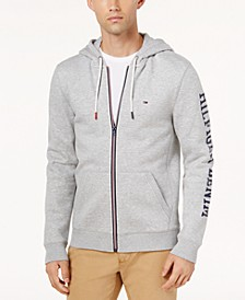 Men's Dash Logo-Print Full-Zip Hoodie