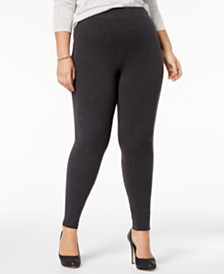 HUE® Women's  Plus Size Cotton Leggings, Created for Macy's