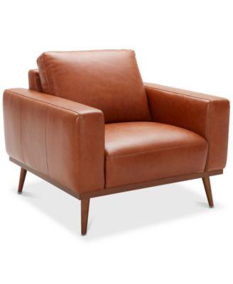 "Marsilla 39"" Leather Armchair, Created for Macy's"