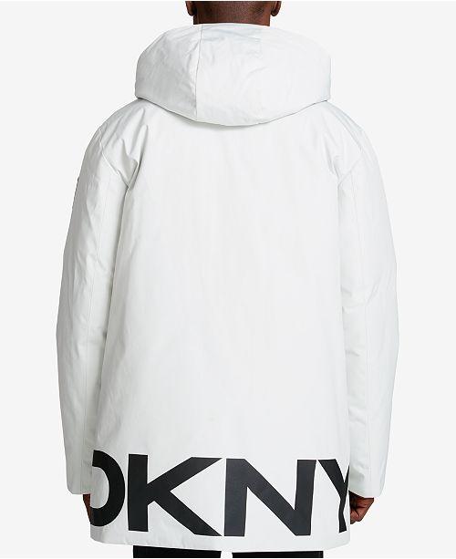 DKNY Men's Hooded Logo Parka