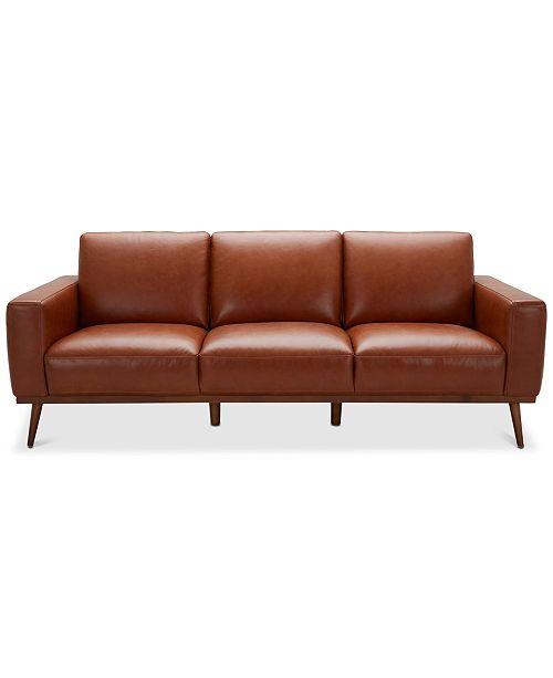 Marsilla 88 Leather Sofa, Created for Macy\'s