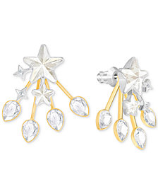 Swarovski Two-Tone Star & Crystal Jacket Earrings